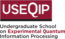 Logo for Undergraduate School on Experimental Quantum Information Processing (USEQIP)